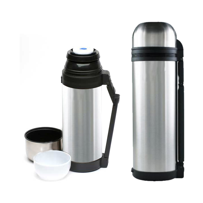 hot n cold stainless steel vacuum thermos flask bottle cup 2 sizes 1 5 1 8 liter ebay. Black Bedroom Furniture Sets. Home Design Ideas