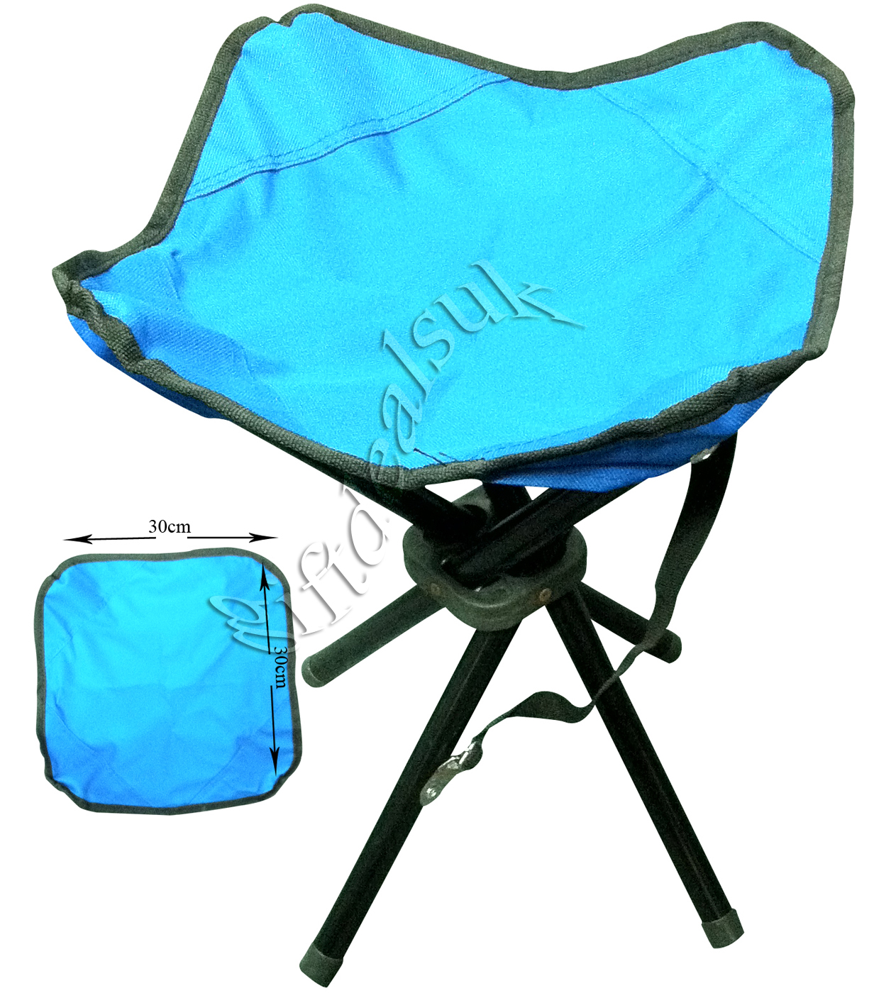 Folding Portable 4 Legs Strong Camping Stool Chair Seat