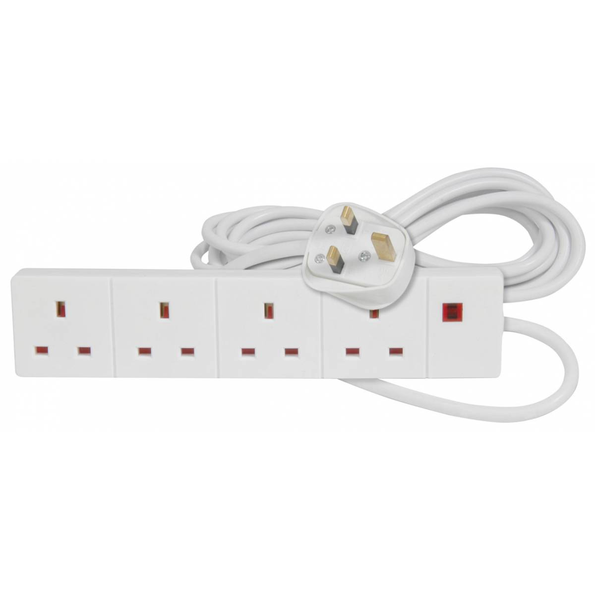 Extension Lead 6 Sockets : New extension leads multi sockets adapters gang uk mains