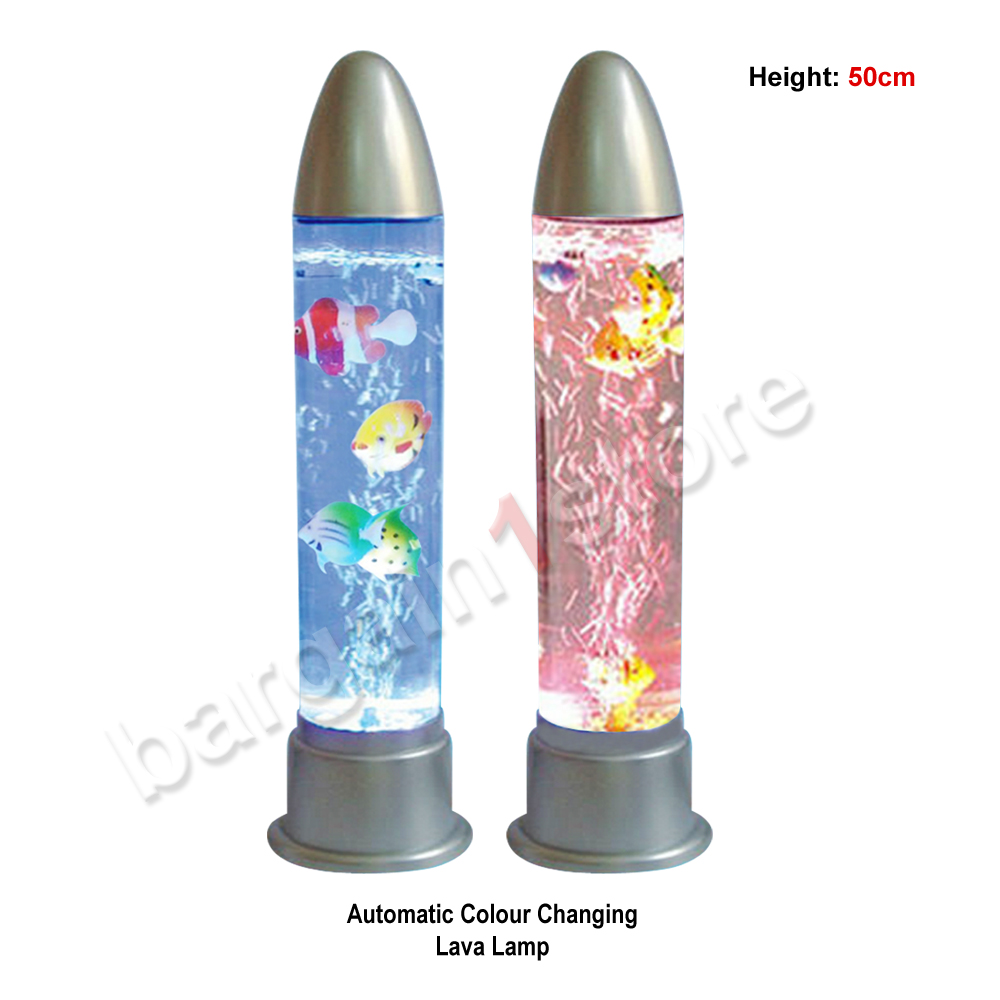 Relaxing Motion Wax Liquid Lava Lamp And Aquarium Fish