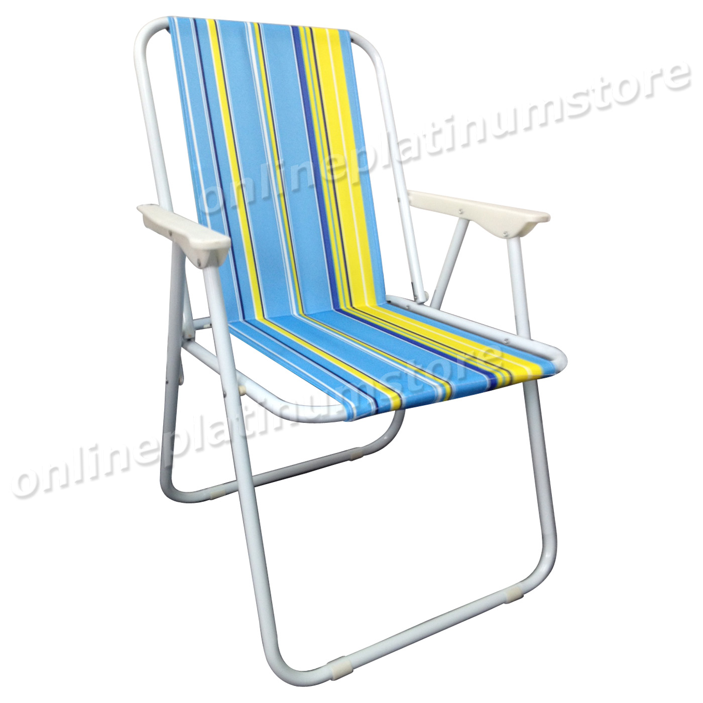 SET OF 2 x LIGHTWEIGHT PORTABLE OUTDOOR GARDEN CAMPING BEACH DECK FOLDING CHA