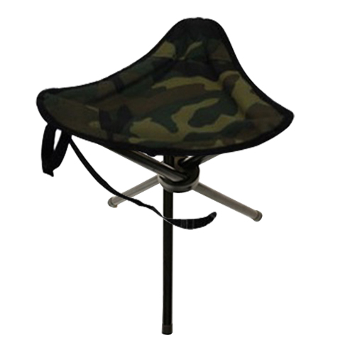 Portable Foldable Green Stool Seat Chair Camping Tripod