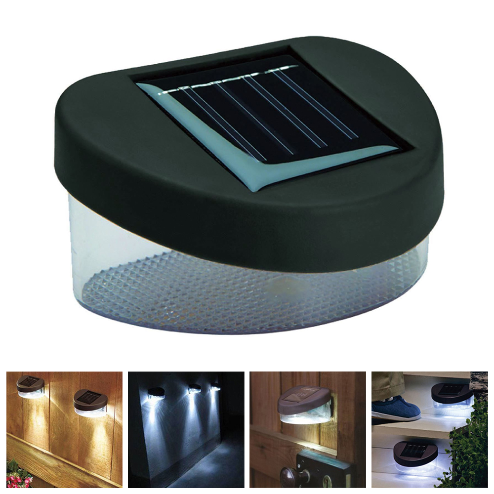SOLAR POWER POWERED DOOR AND FENCE WALL LED LIGHTS OUTDOOR