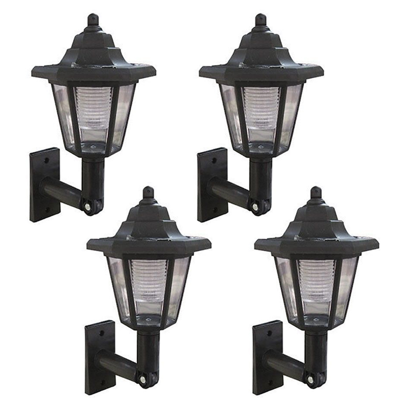 Outdoor Wall Mounted Lights For Sale: LED SOLAR POWER WALL MOUNTED LANTERN LAMP SUN LIGHTS