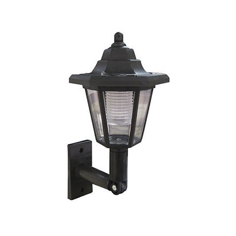 LED SOLAR POWER WALL MOUNTED LANTERN LAMP SUN LIGHTS GARDEN OUTDOOR MOUNT BLACK eBay