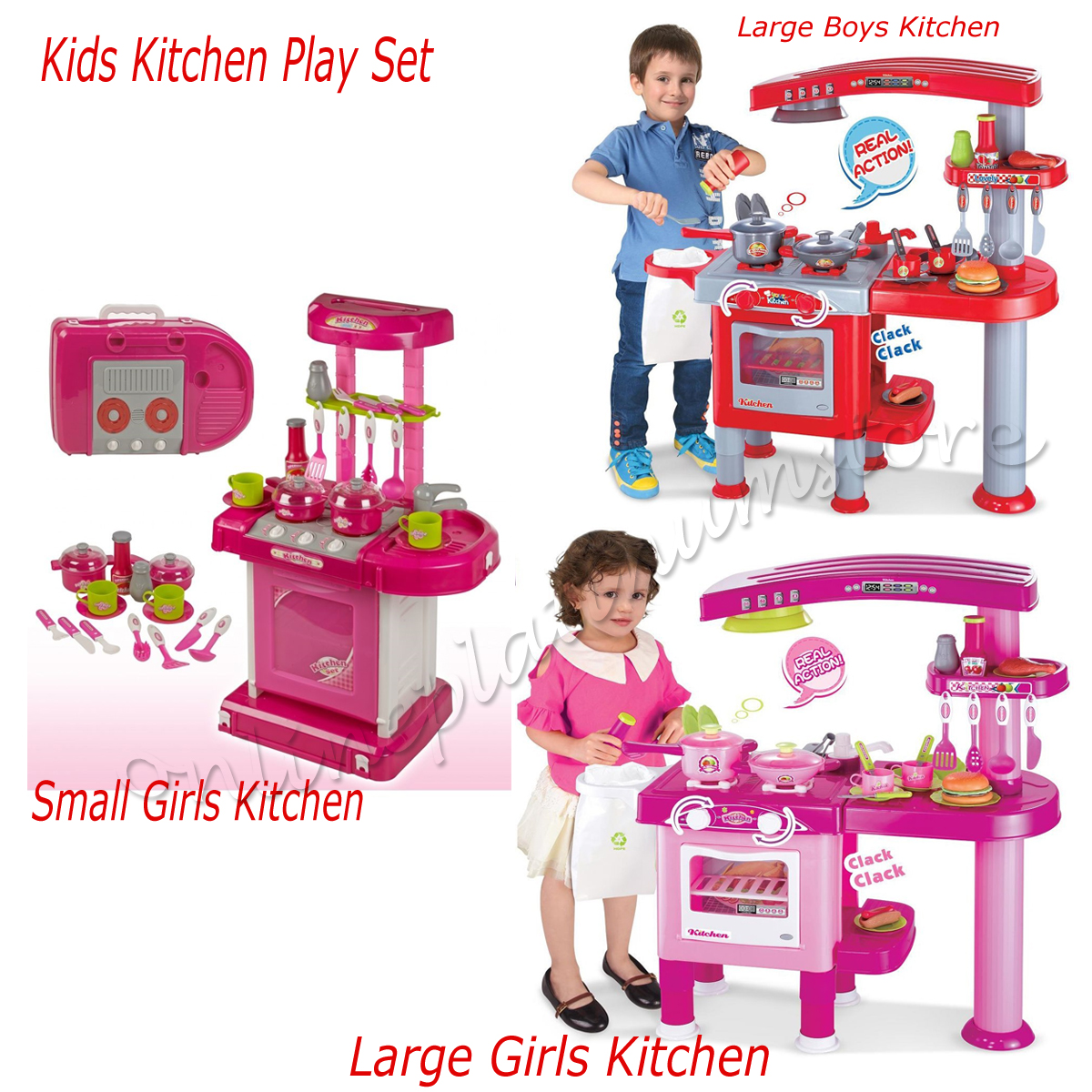 LARGE KITCHEN SMALL KIDS CHILDS PLAYSET ROLE PLAY FOOD
