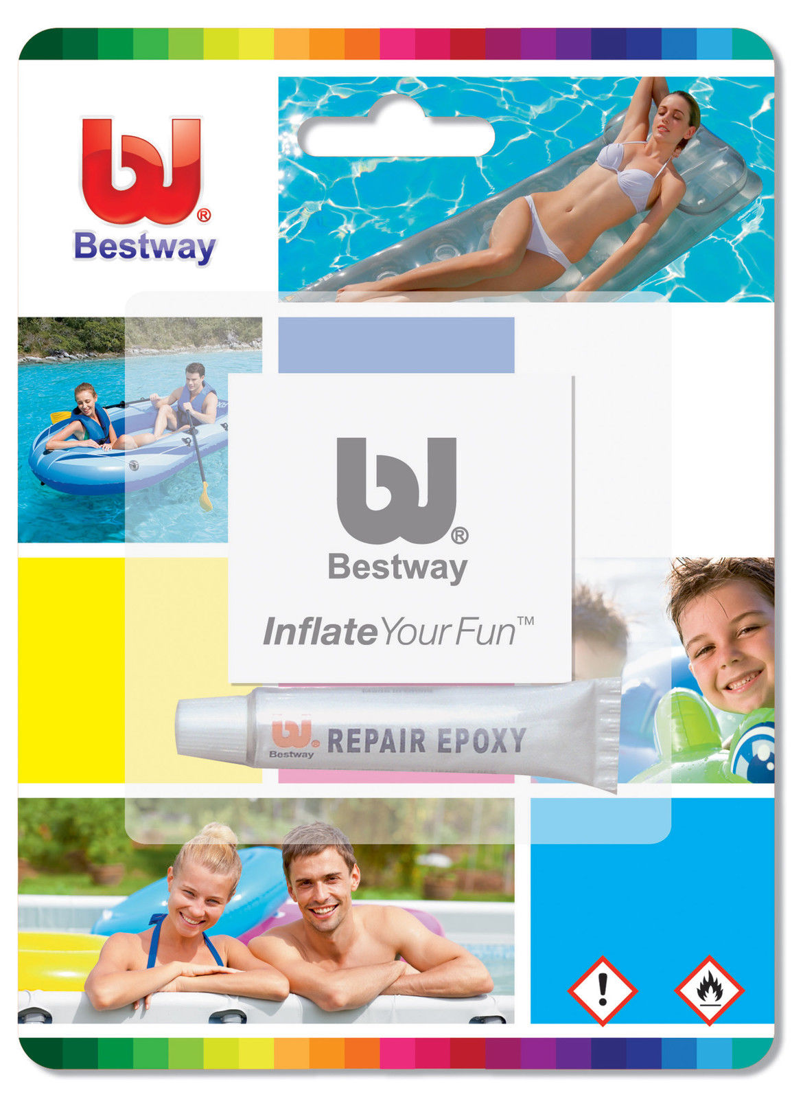 Repair Swimming Pools : Bestway repair kit patches for inflatable swimming pools