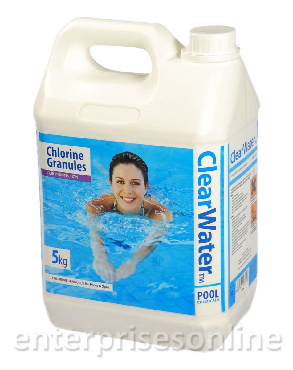 5kg Clearwater Chlorine Granules For Spas And Pools Hot Tub Disinfectant Ch0004 Ebay