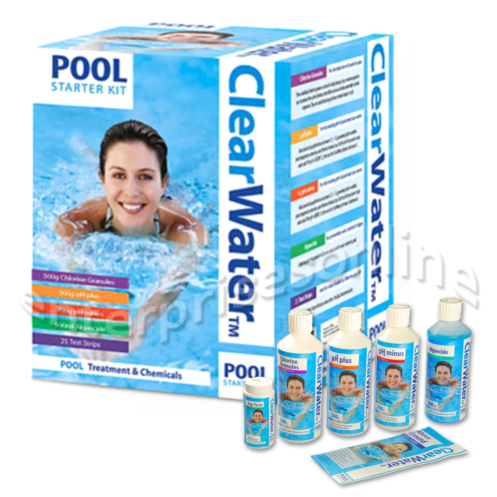 Clearwater swimming pool water treatment chemical starter - Swimming pool water treatment chemicals ...