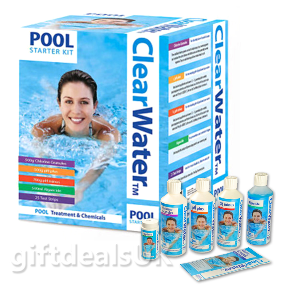 New Clearwater Swimming Pool Treatment And Chemicals Starter Kit Ch0017 Ebay
