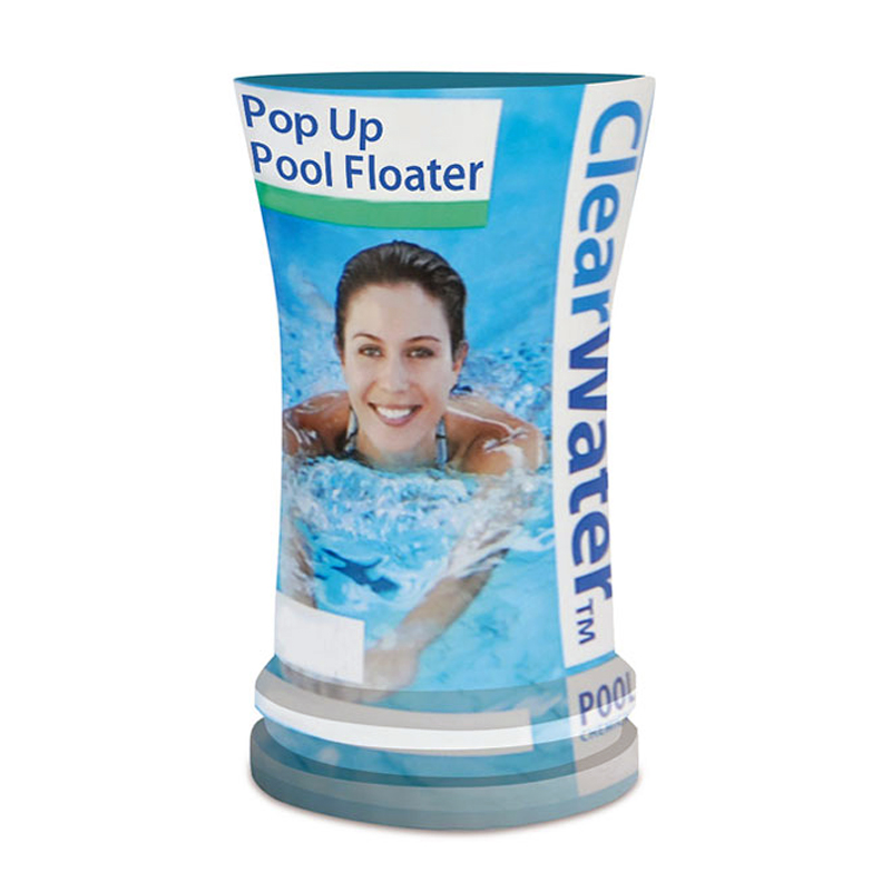 clearwater pop up pool filled floater spa hot tub water treatment white ch0023 ebay. Black Bedroom Furniture Sets. Home Design Ideas