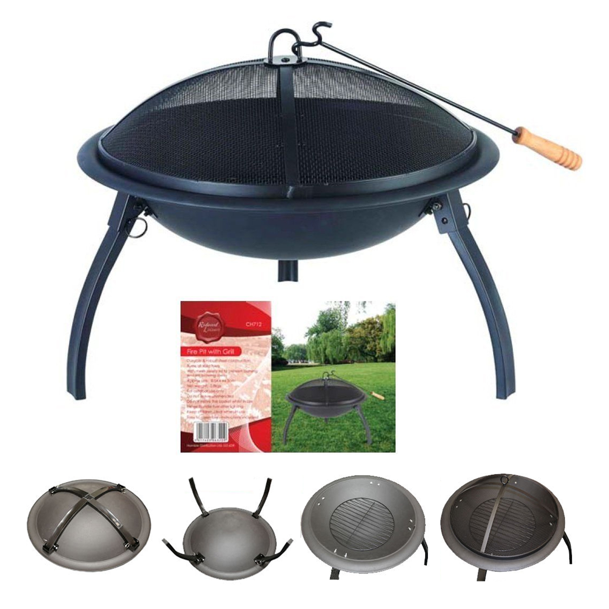 Portable Fire Pit For Camping : New portable fire pit log heater bowl folding garden