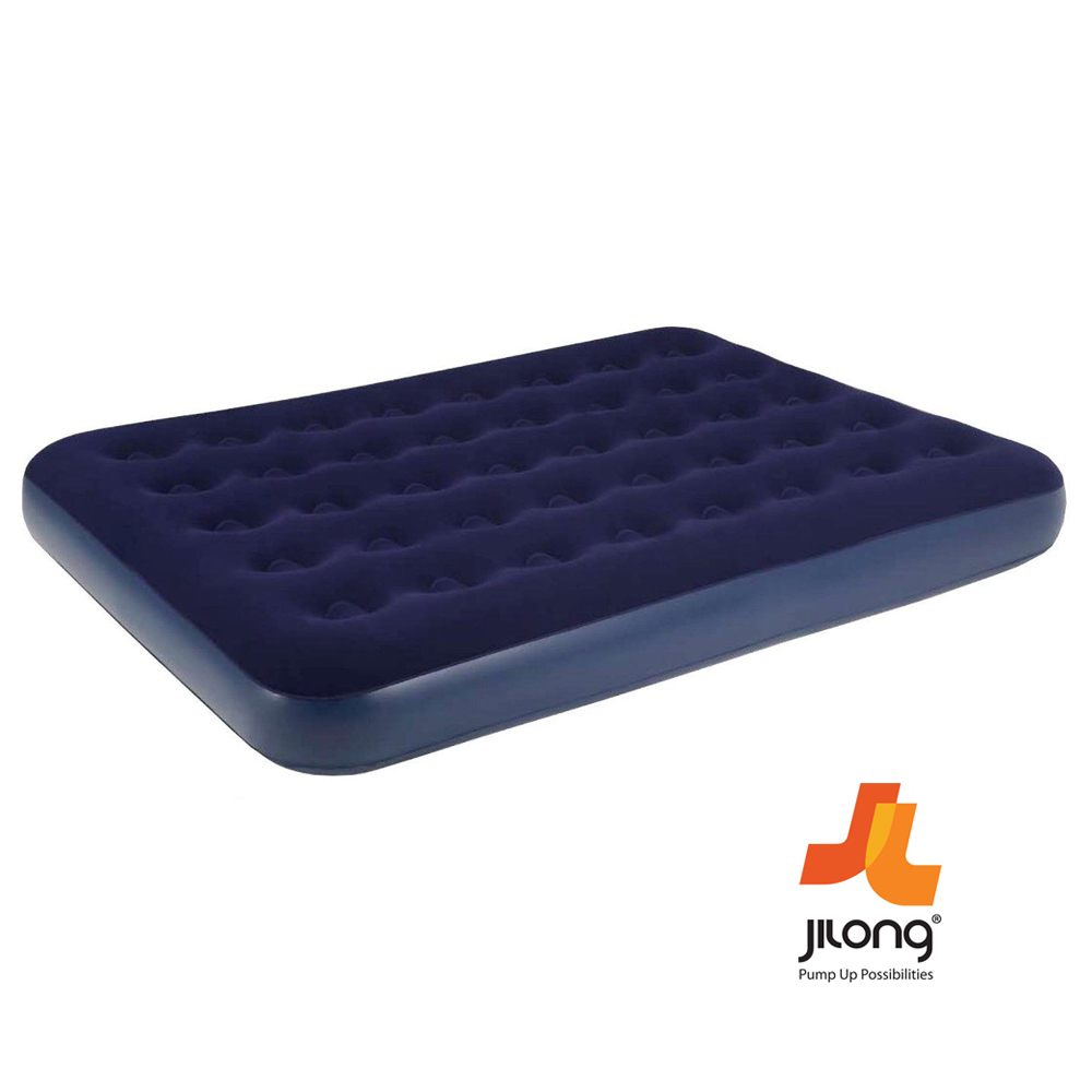 Jilong Single Double Inflatable Flocked Air Bed Camping Mattress With Air Pump Ebay