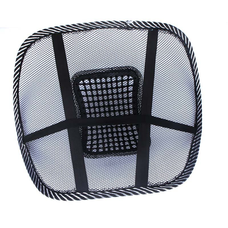 mesh back rest massage pad lumbar support office chair car seat ebay
