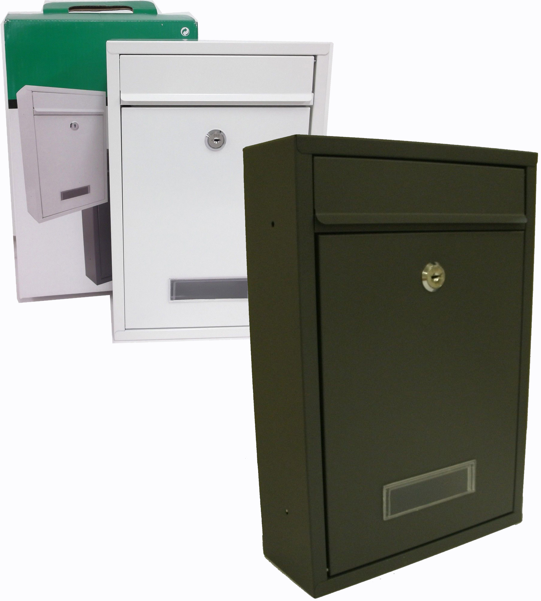 Mailbox stainless steel locking mail box letterbox postal box modern - New Letter Post Mail Box Post Box Letter Box Stainless Steel Wall Mounted 2 Keys In 2 Different Colours Grey White