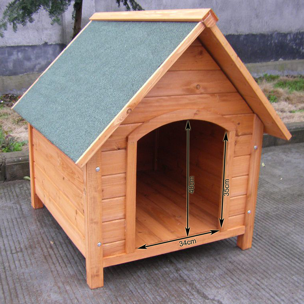 weather proof pet puppy wooden dog kennel house indoor. Black Bedroom Furniture Sets. Home Design Ideas
