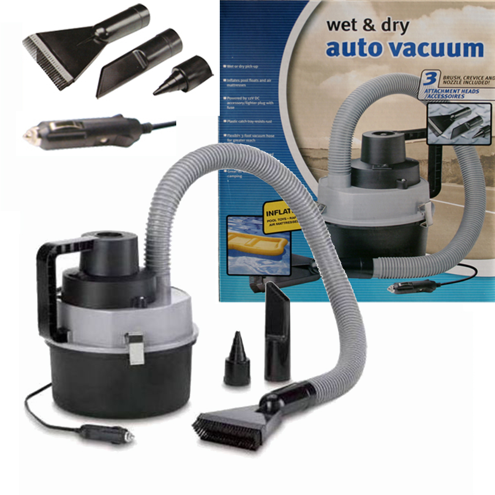 12v auto wet dry vacuum cleaner car carpet boat boot hoover inflating air pump. Black Bedroom Furniture Sets. Home Design Ideas