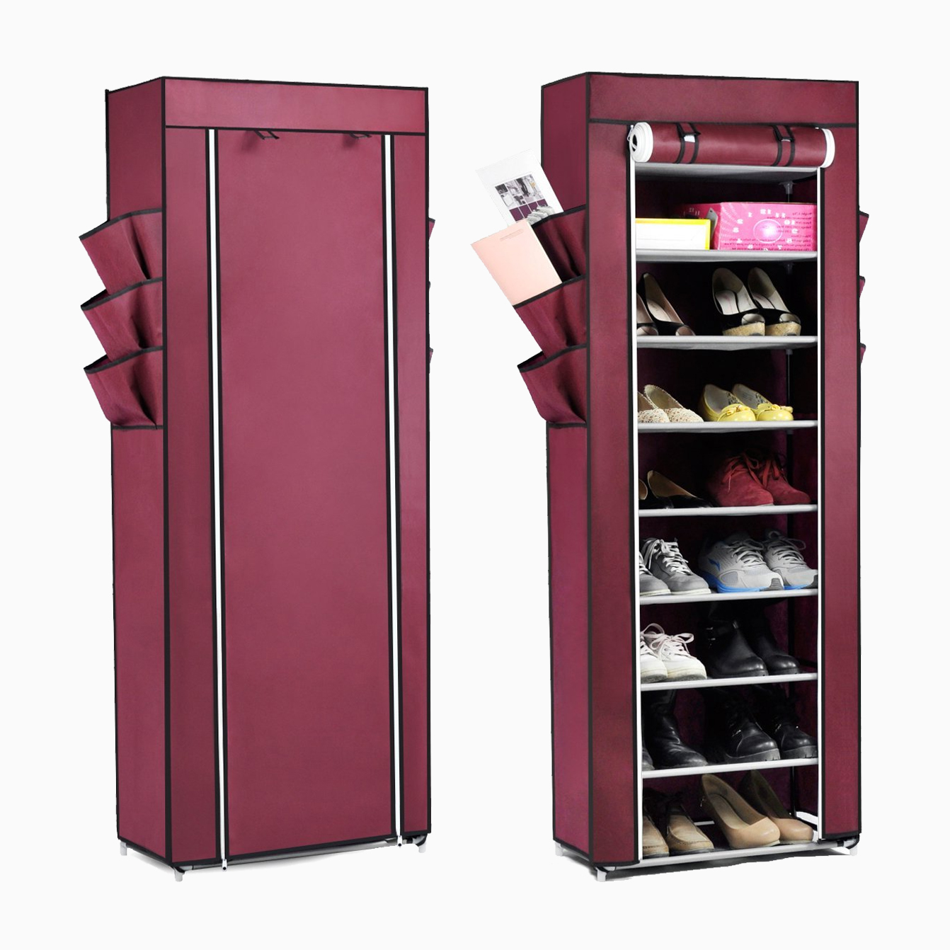 10tier canvas fabric shoe rack shoes organiser storage